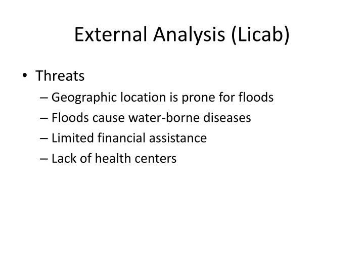 External Analysis (Licab)