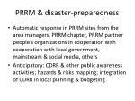 prrm disaster preparedness