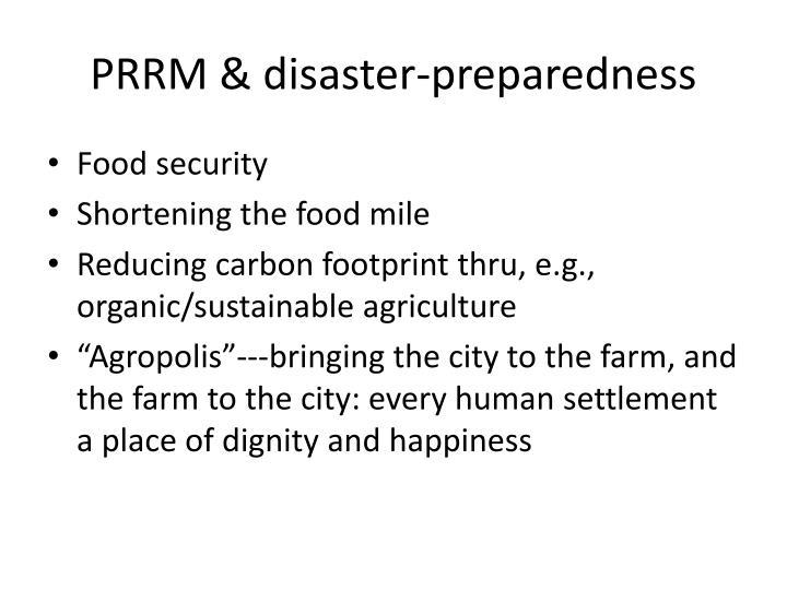 PRRM & disaster-preparedness