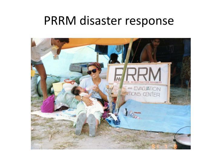 PRRM disaster response