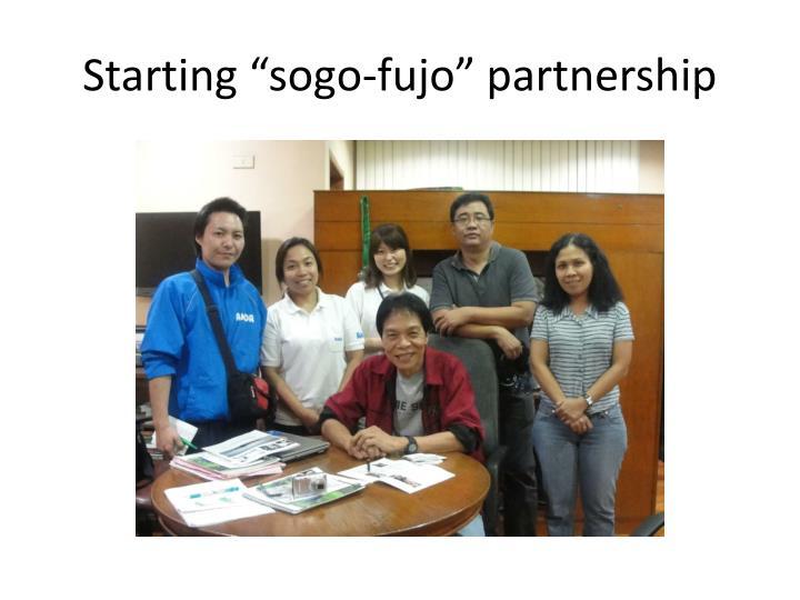 """Starting """"sogo-fujo"""" partnership"""