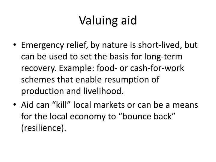 Valuing aid