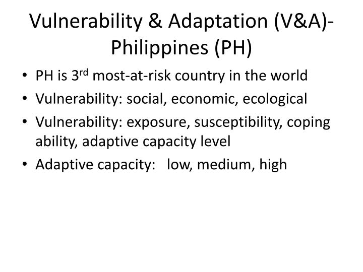 Vulnerability & Adaptation (V&A)-Philippines (PH)