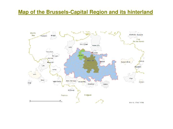 Map of the Brussels-Capital Region and its hinterland