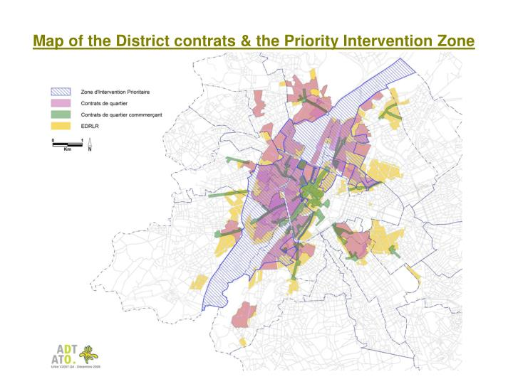 Map of the District contrats & the Priority Intervention Zone