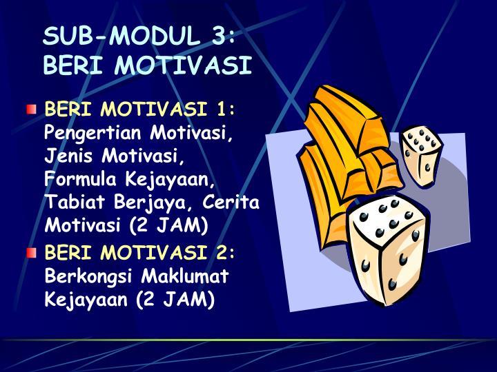 SUB-MODUL 3: BERI MOTIVASI