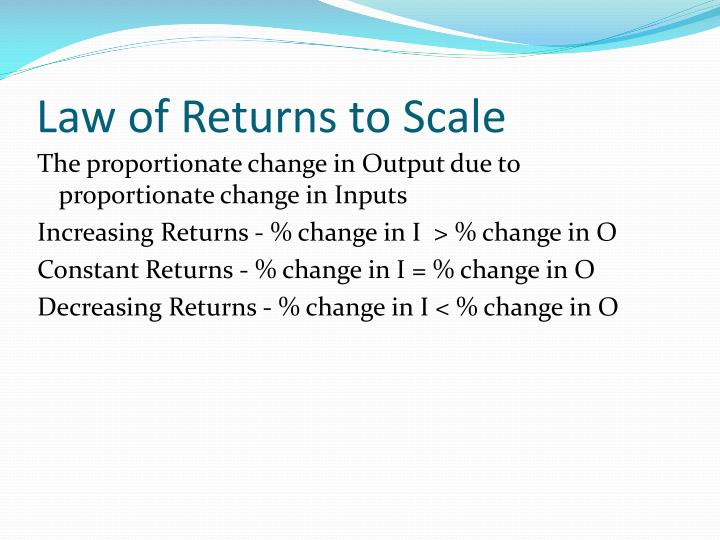 Law of Returns to Scale