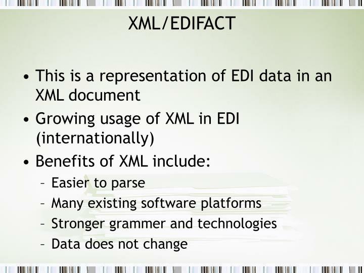 XML/EDIFACT