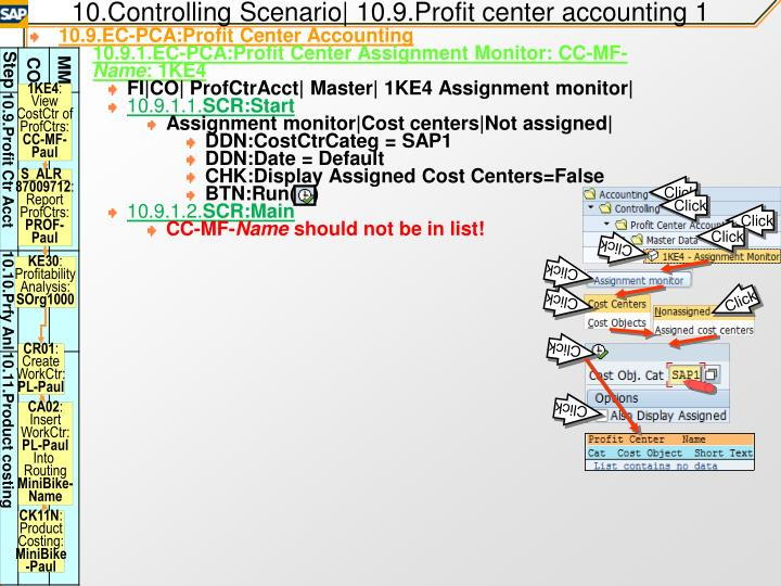 10.Controlling Scenario| 10.9.Profit center accounting 1