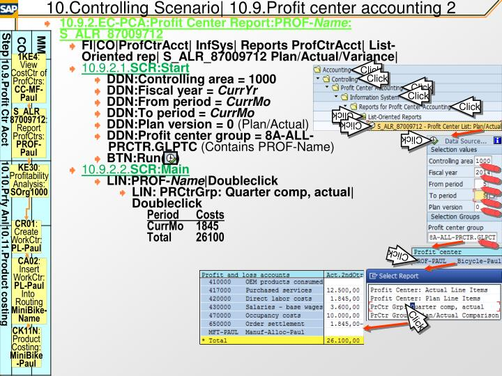 10.Controlling Scenario| 10.9.Profit center accounting 2