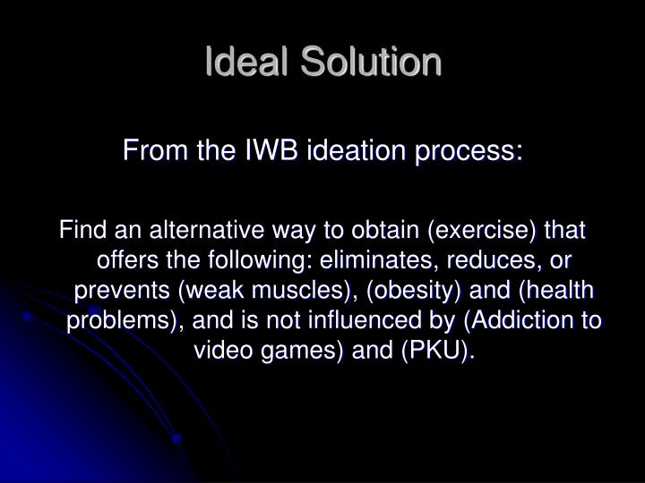 Ideal Solution