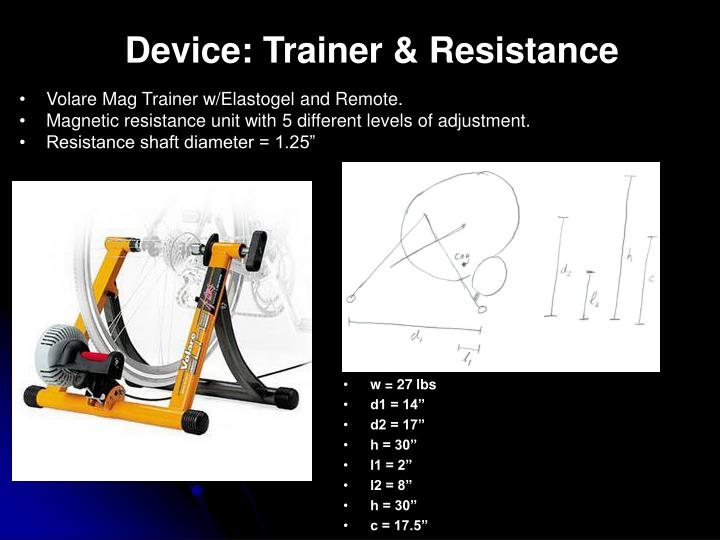 Device: Trainer & Resistance