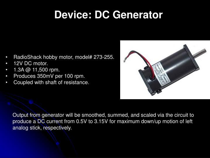 Device: DC Generator