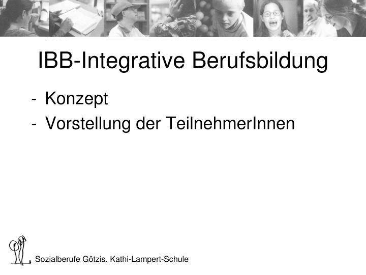 IBB-Integrative Berufsbildung