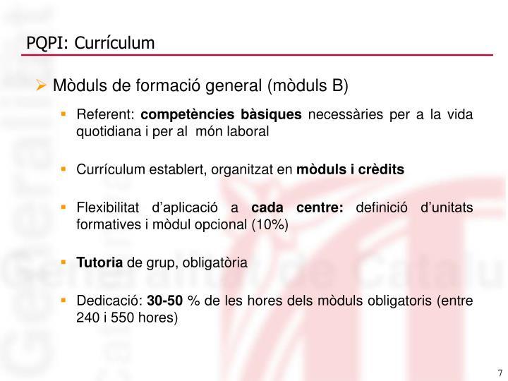 PQPI: Currículum