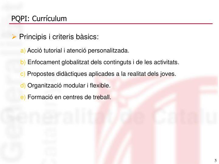 Principis i criteris bàsics: