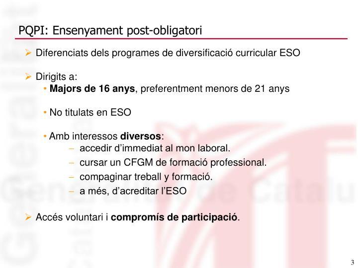 Diferenciats dels programes de diversificació curricular ESO