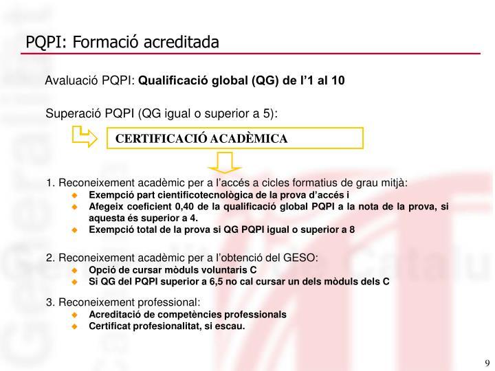 PQPI: Formació acreditada