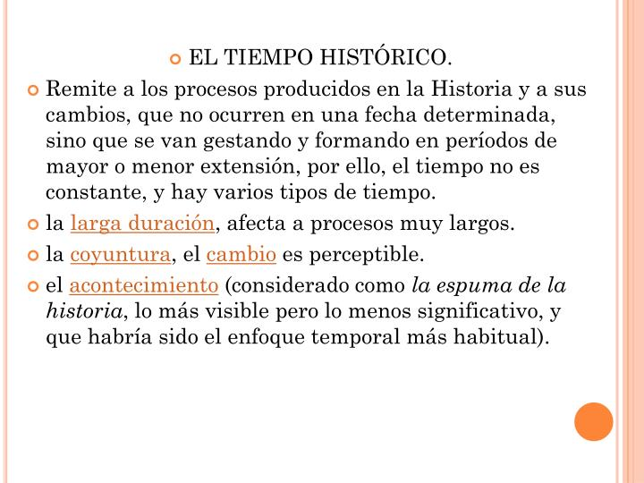 EL TIEMPO HISTÓRICO.