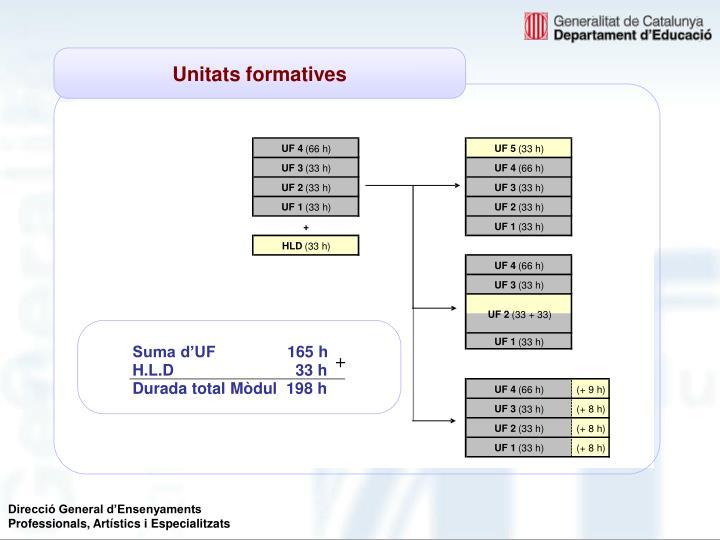 Suma d'UF     165 h