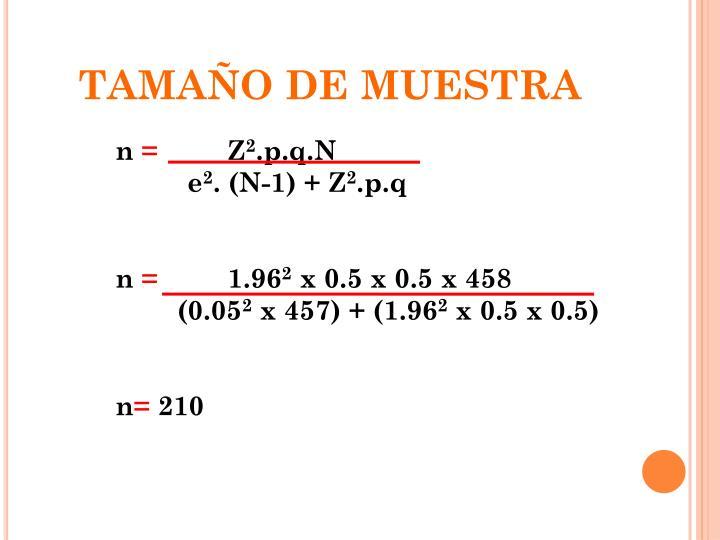 TAMAÑO DE MUESTRA