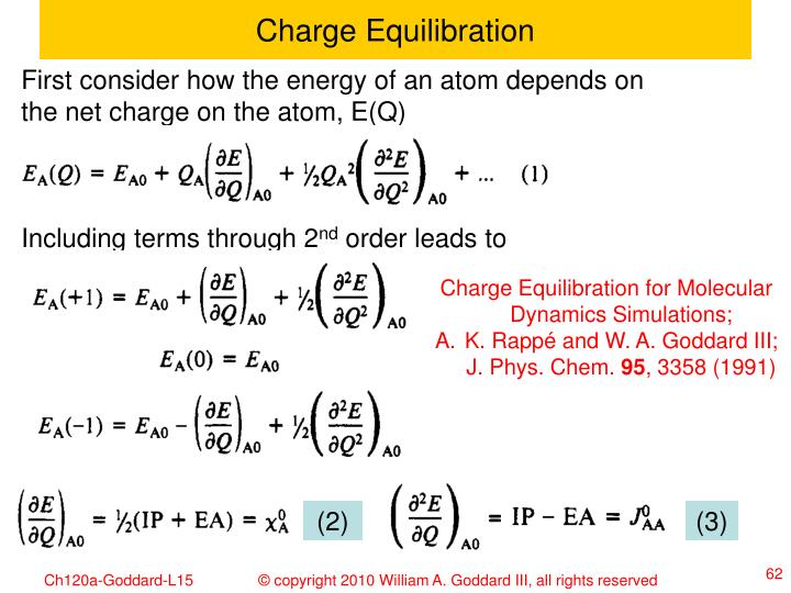 Charge Equilibration