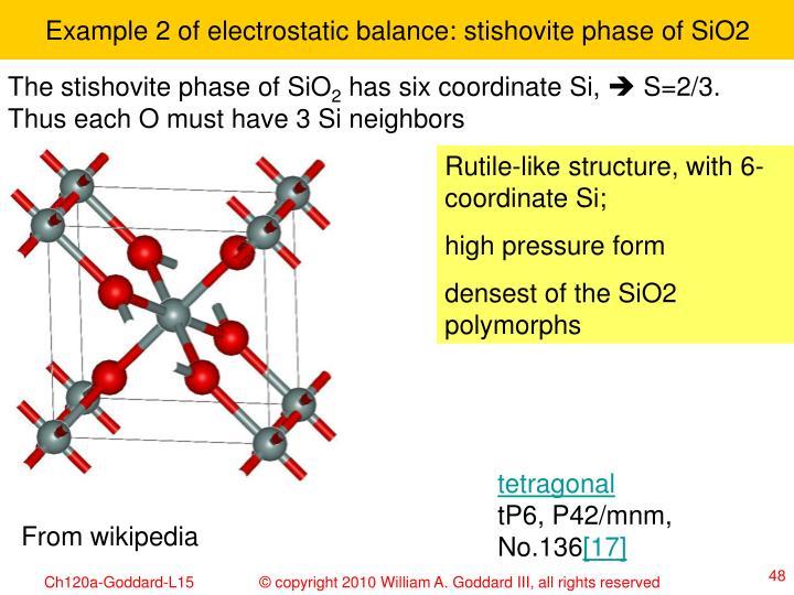 Example 2 of electrostatic balance: