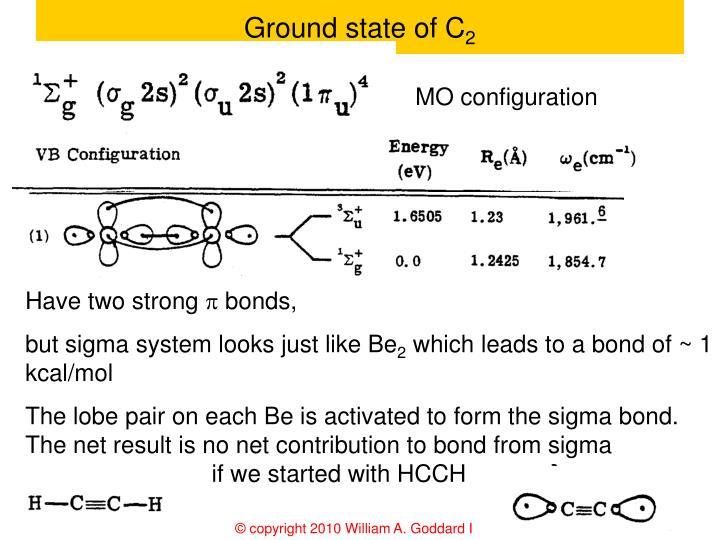 Ground state of C
