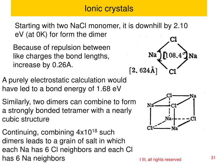 Ionic crystals
