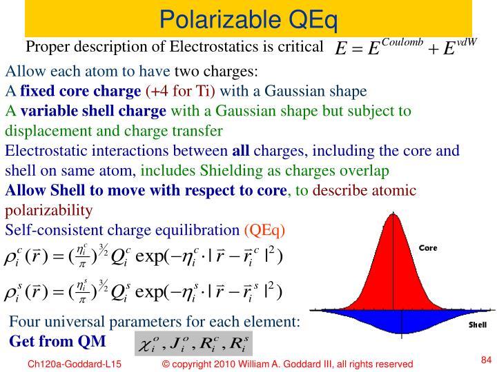 Polarizable QEq