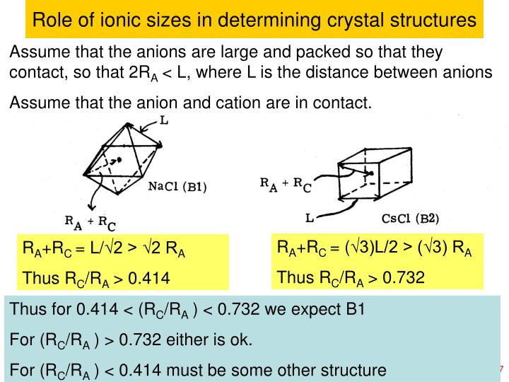 Role of ionic sizes in determining crystal structures
