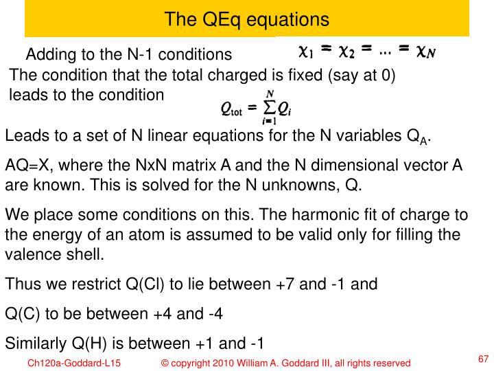 The QEq equations