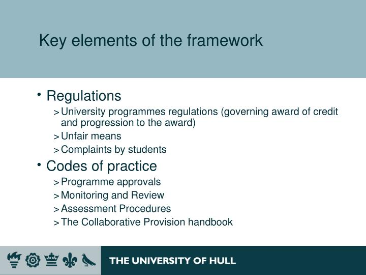 ppt quality and standards framework collaborative
