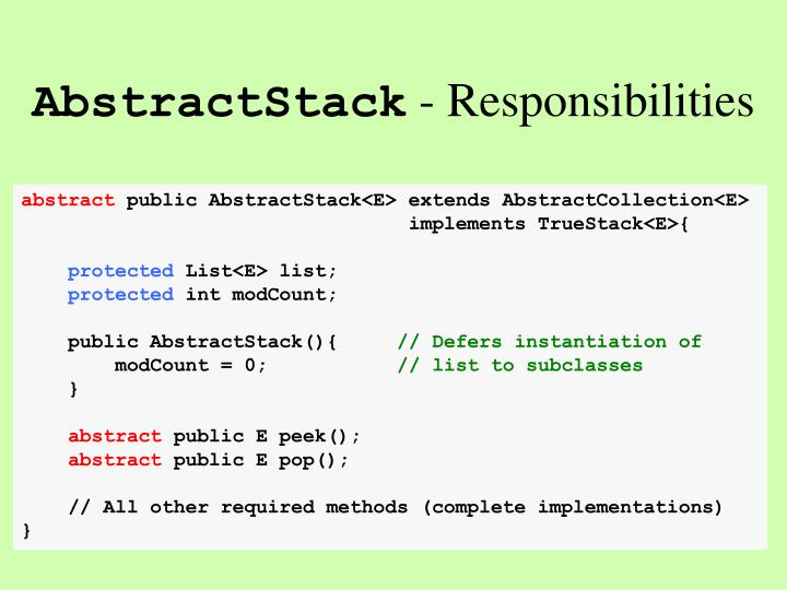 AbstractStack