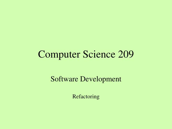 Computer science 209