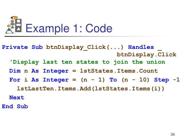 Example 1: Code
