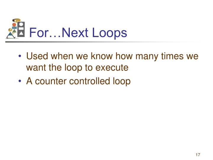 For…Next Loops