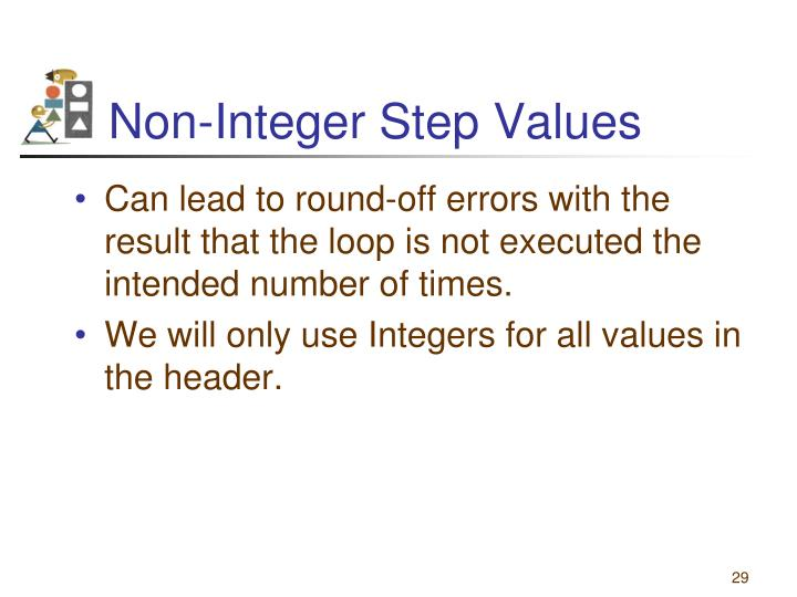 Non-Integer Step Values