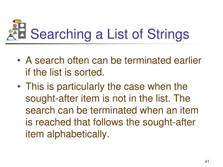 Searching a List of Strings