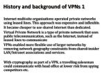 history and background of vpns 1