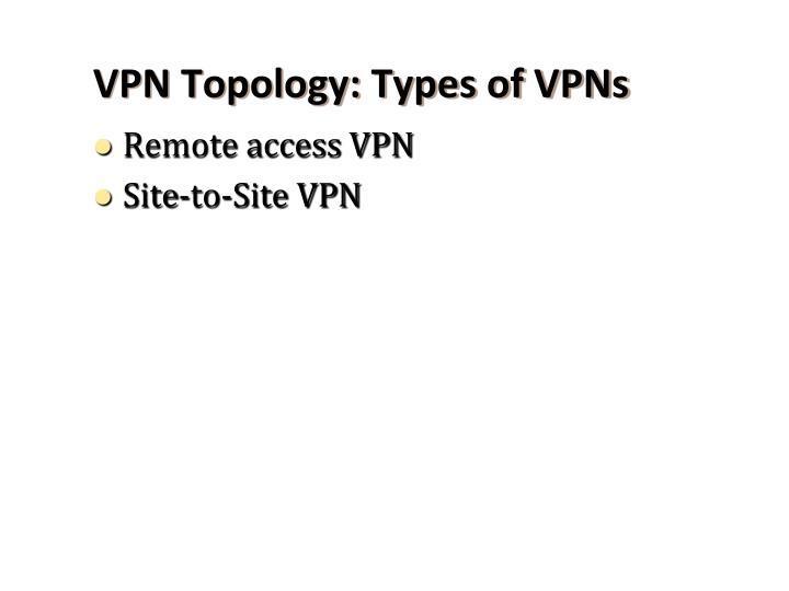 VPN Topology: Types of VPNs