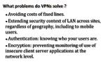 what problems do vpns solve