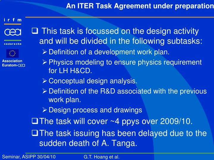 This task is focussed on the design activity and will be divided in the following subtasks: