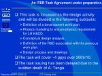 an iter task agreement under preparation