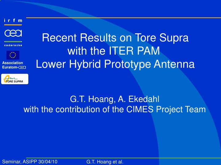 Recent Results on Tore Supra