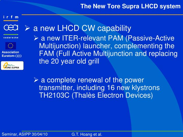 a new LHCD CW capability
