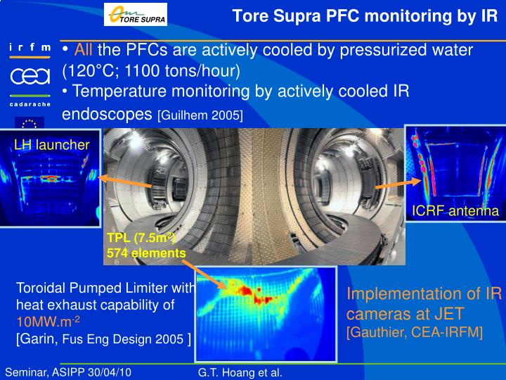 Tore supra pfc monitoring by ir