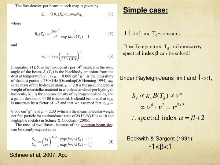 Simple case: