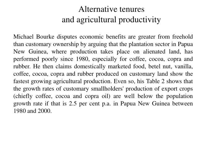 Alternative tenures