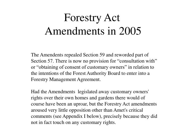 Forestry Act
